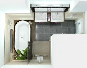 WEB-Sofiane Sarraj- koupelna B - NOVÝ-půdorys + VIZUALIZACE 2015-06-18 18104200000