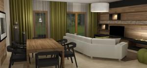 BYT 4kk - APARTMÁNY MEDVĚDÍN - Obývací pokoj (1)