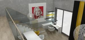 Podkrovní byt s galerií - Praha 10 (1)